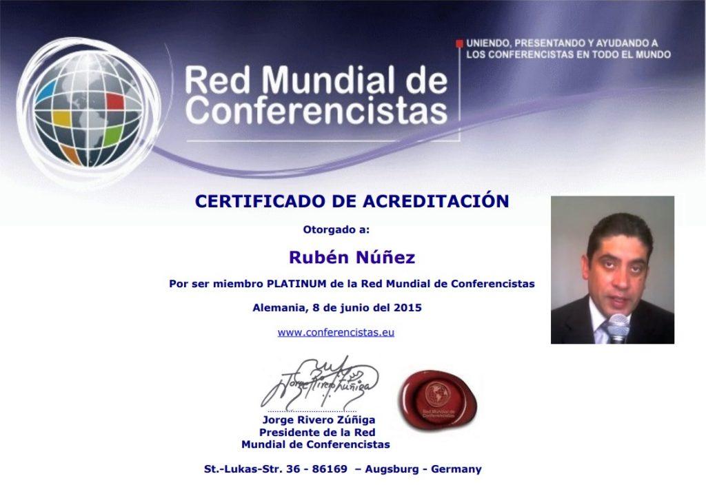 Certificado Rúben Nuñez