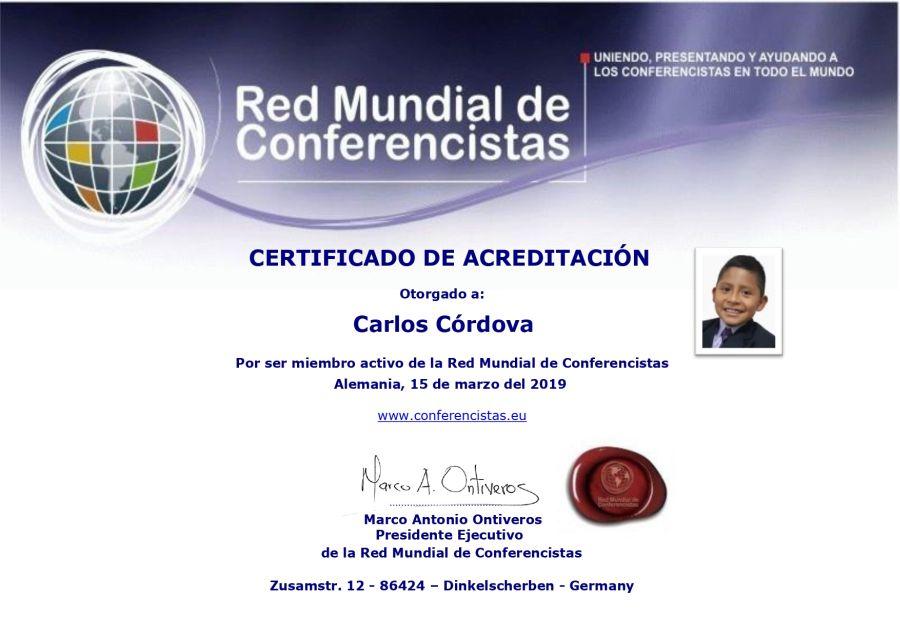 Carlos Córdova Conferencista